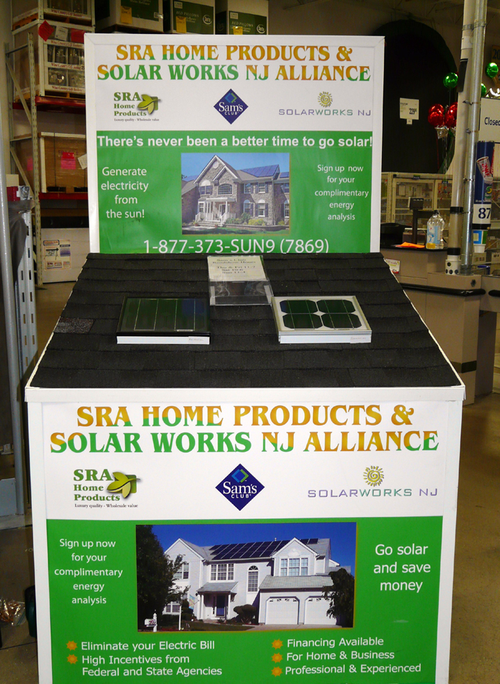 SolarWorks NJ Sam's Club Booth